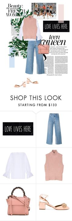 """#151"" by yourlittlebitch ❤ liked on Polyvore featuring RE/DONE, Osman, Diesel Black Gold and Aquazzura"