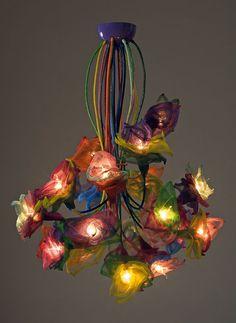 A mano soffitto lampadario fiori 20 di FMFOS su Etsy, €700.00