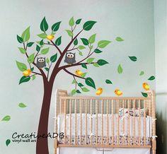 Wandtattoo Wanddekoration - Baum mit Vögeln von Wall decor shop by creativeADB auf DaWanda.com