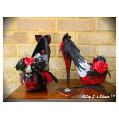 Milly J's Shoe Designs - The Vampire Diaries Unwinged Edition ($430) found on Polyvore #VampDreams