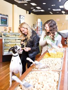 Ellie May enjoying the Bulk Bar @ #ThreeDogBakery Country Club Plaza