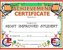 printable most improved student awards certificates templates - Free Printable Student Award Certificate Template