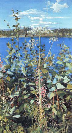 Angelica sauvage, huile sur toile de Akseli Gallen Kallela (1865-1931, Finland)