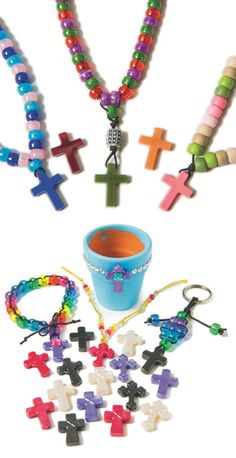 Use cross pendants to make jewelry, decorations, and more!
