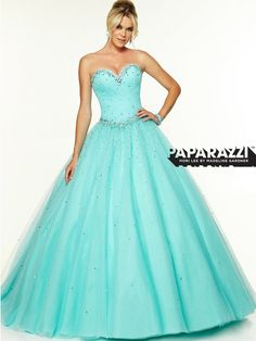 Sweetheart Tulle Ball Gown Paparazzi Prom Dress By Mori Lee 97117