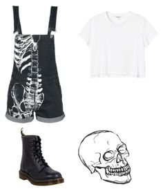"""Untitled #132"" by musicqueen72 ❤ liked on Polyvore featuring Monki and Dr. Martens"