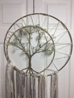 Custom made tree of life dream catcher Measures 19 wide 40 long