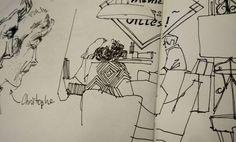 Rendez-vous croquis mensuel en cours @strasbourg. #urbansketchers #mémédanslesorties #uskstrasbourg #sketch #drawing #sketchbook