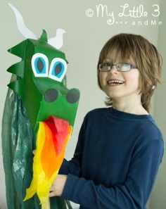 Make a Dragon Hobby Horse from an old cereal box!