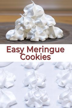 A classic cool looking cookie is the meringue cookie. This easy meringue cookies recipe only needs 4 ingredients and you could just use
