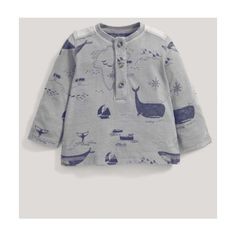 Whale Print T-Shirt (34 BRL) ❤ liked on Polyvore featuring tops and t-shirts