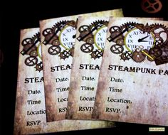 Steampunk Party Invitations Print At Home by FrolicParties on Etsy, $2.95