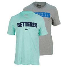 If you think Federer is the betterer of the best or simply want to send the message to your own opponent that you'll be the one leaving with the W, then the Nike Men's RF Betterer V Neck Tennis Tee is the perfect shirt for you! Ultra soft cotton jersey tee features a V-neck for enhanced comfort and mobility. #federer #nike #tennis #endlesstennis