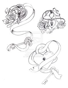 Heart And Key Tattoo Designs | Lock and Key by ~LadyKree on deviantART