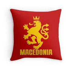 """MACEDONIA"" Throw Pillows by IMPACTEES   Redbubble"