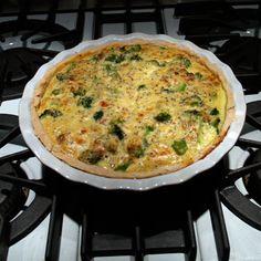 Blue Cheese & Broccoli Quiche Recipe: You can serve this quiche hot or room temperature.