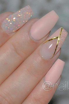 39 Exquisite Ideas Of Wedding Nails For Elegant Brides . - 39 Exquisite Ideas Of Wedding Nails For Elegant Brides - Nagel Bling, Nagellack Design, Elegant Nail Designs, Nail Art Designs, Bride Nails, Wedding Nails Design, Nails For Wedding, Thanksgiving Nails, Luxury Nails