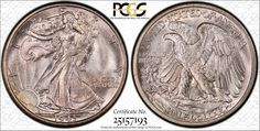 """This 1943-S Walking Liberty half dollar, graded PCGS Secure Plus MS67+, is from the High Desert Collection and will be part of the PCGS """"Walker Showdown"""" at the September 6 - 8, 2012 Long Beach Expo. (Photo courtesy of PCGS.)"""
