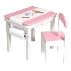 Girls Kids Pink Desk Desks Drawing Table Tables Chair Chairs And Toddler Easel