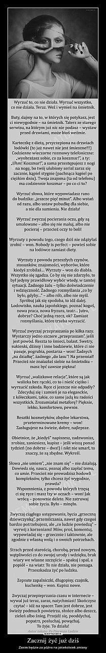 Stylowi.pl - Odkrywaj, kolekcjonuj, kupuj Inspirational Thoughts, Positive Thoughts, Positive Quotes, Weekend Humor, Carpe Diem, Powerful Words, Poetry Quotes, Good Advice, Self Esteem