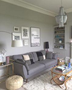Living Room Ideas with Gray sofa. Living Room Ideas with Gray sofa. Choosing A Color theme for the Grey Living Room is One Of Silver Living Room, Living Room Grey, Living Room Sofa, Home Living Room, Cozy Living, Apartment Living, Living Room Wall Art, Cozy Apartment, Dining Room