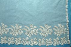 Excellent bonnet veil of Brussels bobbinlace applique on machine net from the 8/16/2015 Ebay Alerts.