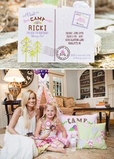 """Ricki Maynard's """"Glam Camping"""" Birthday Party... Why yes, Parker Anabelle, I would love to take you glamping:)"""