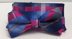 Stacy Adams Bow Tie & Hanky Set Blue, Fushia & Orange Men's 100% Microfiber New #StacyAdams #BowTie