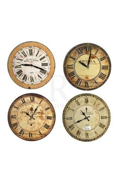 French Word Clock 28cm @ rosefields.co.uk