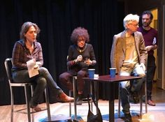 Seamus Scanlon's THE BLOOD FLOW GAME -- Nancy Manocherian's the cell post reading talkback Kira Simring, Janet Coleman, Seamus Scanlon, Mark Byrne getting into position. Waiting for Maria Deasy and Peter Halpin before starting. Great audience, great response. https://www.facebook.com/photo.php?fbid=10155136161783627&set=a.10151052265088627.490007.707828626&type=3&theater