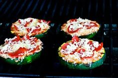 Kalyn's Kitchen®: Recipe for Grilled Zucchini Pizza Slices