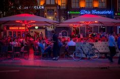 Drinks Groningen Terrace People Bar Cafe B Sitges, Bacardi, Rainbow House, Restaurants, Destinations, Best Pubs, Red Light District, Activities To Do, First Photo