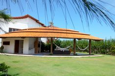 The terrace with garden area at the Villa. Offers a lot of space and privacy!