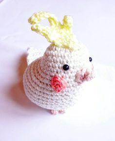 cockatiel, crochet animal, stuffed animal , stuffed parrot , crochet bird, bird lovers gift by Crochetonatree on Etsy