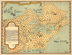 1647 A very old MAP of Eastern United States of by StoneyPrints, $15.00