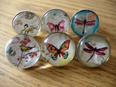 Vintage Style Drawer Knobs, Bird Butterfly Dragonfly, Cupboard Door Handle Pull