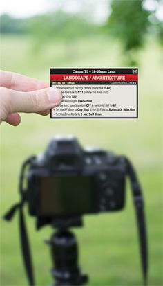 Canon T5 Landscape Photography Cheat Sheet
