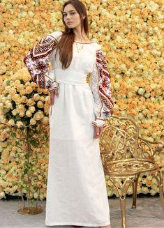 Белое платье в пол с открытой спиной ПЛ-770292