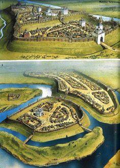 Fantasy City Map, Fantasy Town, Fantasy Castle, Fantasy Places, Medieval Fantasy, Fantasy World, High Fantasy, Medieval World, Medieval Town