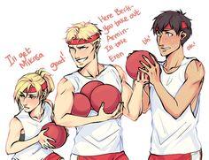 Shingeki no Kyojin (Attack on Titan)Titan Trio Armin, Mikasa, Attack On Titan, Manga, Connie Springer, Annie Leonhart, Japanese Video Games, Animes On, Hyouka