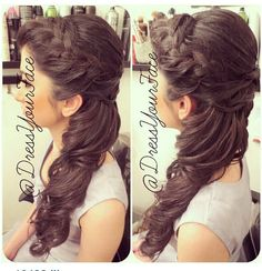 Great for quinceñera hairdo