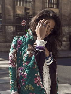 Paris In Motion: Shanina Shaik by Margaret Zhang ofShine By Three - Gucci