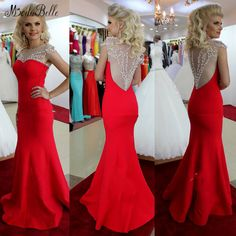 Find More Evening Dresses Information about Sexy Long Mermaid Evening Dresses Abendkleider Crystal 2016 New Arrival See Through Beaded Formal Dresses African Evening Gowns,High Quality dress like fashion designer,China dress up dresses girls Suppliers, Cheap dresses lemon from ModaBelle Bridal on Aliexpress.com