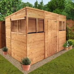 buy billyoh tongue and groove pent garden shed 10ft x 6ft at argosco - Garden Sheds Reading