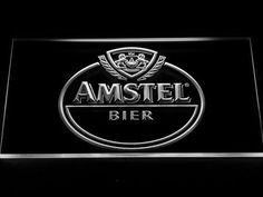 Amstel Bier LED Neon Sign Cool Bedroom Accessories, Man Cave Accessories, Man Cave Led Lighting, Led Neon Signs, New Home Gifts, Bar Signs, Vibrant Colors, Ads, Glow