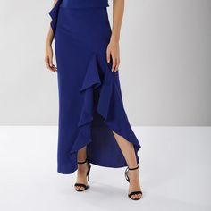 New Season Cheap Coast Skirts : Clearance Cobalt Blue Emily Cobalt Skirt Coast Skirts, Coast Outfit, Deep Winter, Print Box, High Low Skirt, Skirts For Sale, Cobalt Blue, Seasons, Chic