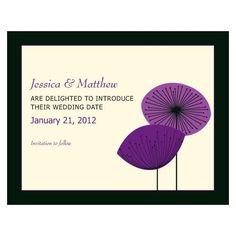Romantic Elegance Save The Date Card Indigo Blue (Pack of 1)