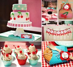 "So many happy details to PICK from in this darling ""Cherry on Top"" party"
