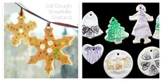 Salt Dough Ornaments Kids Can Make - Beaded Ornaments and Stamped Ornaments 2