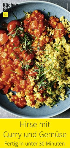 Hirse mit Curry und Gemüse If you are still looking for a tasty idea for meal prep, you should try t Healthy Eating Grocery List, Healthy Breakfast Meal Prep, Healthy Breakfast Casserole, Healthy Lunches For Kids, Healthy Family Dinners, Lunch Meal Prep, Vegetarian Recipes Dinner, Healthy Eating Recipes, Healthy Meal Prep